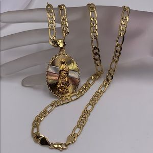 chain and pendant, laminated gold